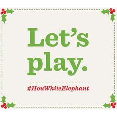 Have a white elephant gift that's just too good to give up? Snap a pic and tag it with #HouWhiteElephant and @Houlihan's on Instagram and Twitter for a chance to win free Houlihan's for a year. Be creative! We'll judge based on white elephant tackiness, uniqueness and photo quality. Don't forget, if you have a private account, we can't see your awesome pics! Official rules here: www.houlihans.com/WhiteElephant