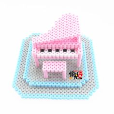 DIY 3D Piano perler beads