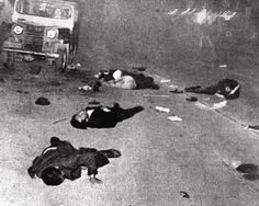 Photo by Chung,Bum-Tai 4.18.1960. Korea University Student was attacked. It became 4.19 Democratic Revolution in Korea.