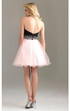 Strapless Short Homecoming Dress 6451 NM-6451