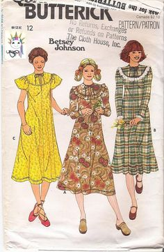 Butterick 6178 Betsey Johnson Pattern Vintage by VintageYacketUSA