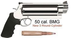 Wow! .50 Caliber BMG Revolver with 3 Round Cylinder