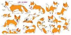 Corgi gestures by Lelpel on DeviantArt ★ || CHARACTER DESIGN REFERENCES (https://www.facebook.com/CharacterDesignReferences & https://www.pinterest.com/characterdesigh) • Love Character Design? Join the #CDChallenge (link→ https://www.facebook.com/groups/CharacterDesignChallenge) Promote your art in a community of over 40.000 artists! || ★
