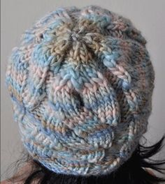Chunky Mochi - Lettuce Cabled Hat - 2 Ball Hat - Crystal Palace Yarns -  free knit hat pattern
