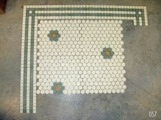 Vintage 1920s hex tile