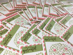 My Pink Stamper: Thoughtful Branches Thank You Cards Video Tutorial - Episode 504