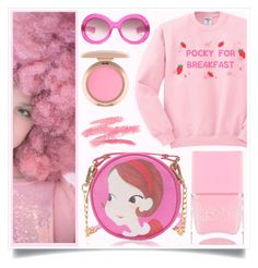 """Sugar Bubblegum"" by racanoki ❤ liked on Polyvore featuring Ashish, Oliver Goldsmith, Nails Inc. and RaCaNoKi"