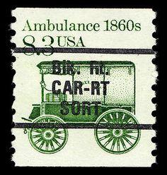 8.3c Bureau Precancel Ambulance single