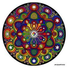 Mandala 42 - Rainbow coloured by Mandala-Jim.deviantart.com on @deviantART