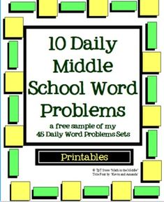10 FREE Daily Word Problems of the Day for Middle School - Math in the Middle - TeachersPayTeachers.com