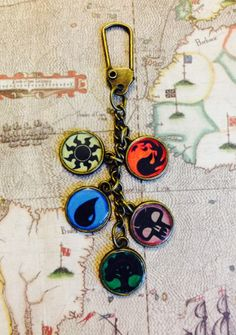 Magic the Gathering Keychain by ImagineInfinite on Etsy