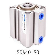 1 Pcs SDA40-80 Stroke Stainless steel Pneumatic Air Cylinder