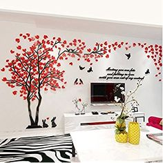 Shop the latest collection of KINBEDY Acrylic Tree Wall Stickers Wall Decal Easy Install &Apply DIY Decor Sticker Home Art Decor. Xxl Sofa, Sofa Couch, Home Wall Art, Home Art, Wall Art Decor, Diy Home Decor Easy, Diy Home Decor Bedroom, Easy Diy, Wall Stickers Murals