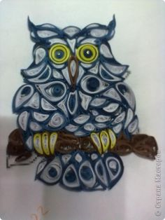 Nice quilled owl