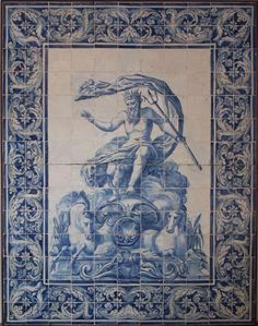 Large murals- Blue and white From Portugal, from the first half of the 18th century.