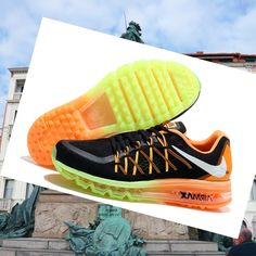 detailed look aac9e 8cf1c Nike Air Max 2015 Scarpe Nero Arancione Donna Vendita,Wearing trainers will  have a nice day.