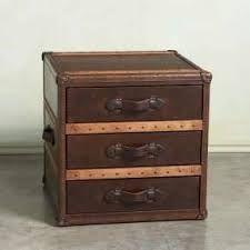 Image result for leather bedside table