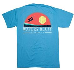Waters Bluff Big Air Short Sleeve Tee- Sapphire from Shop Southern Roots TX
