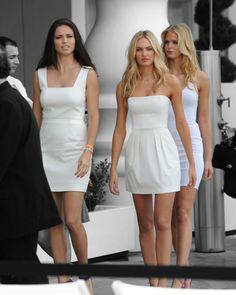 Adriana Lima, Candice Swanepoel, Erin Heatherton.