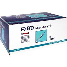 BD MICRO-FINE+ Insulinspr.1 ml U40 12,7 mm:   Packungsinhalt: 100X1 ml Spritzen PZN: 04400127 Hersteller: Becton Dickinson GmbH Preis:…