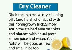 Dry cleaning!