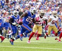 49ers vs. Bills:     October 16, 2016  -  45-16, Bills  -    Buffalo Bills running back LeSean McCoy (25)  gains yards during the first half of an NFL football game against the San Francisco 49ers on Sunday, Oct. 16, 2016, in Orchard Park, N.Y. (AP Photo/Bill Wippert) Photo: Bill Wippert, Associated Press