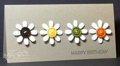 Button / Happy Birthday / Loved Ones / Stampin' Up / Blossom Party / Crumb Cake / Simple Card