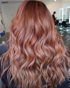 Did someone say rosé! 🍷💗Loving this color by Hair Color Auburn, Copper Hair, Balayage Hair, Salons, Bubbles, Stylists, Long Hair Styles, Photo And Video, Rose