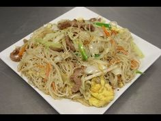 How to Make Pork Mei Fun (Rice Noodles) - YouTube ~Pretty darn good, we added ginger! Maybe use only half a bag of noodles next time. Made tons of left overs, so watch how much you put in it!