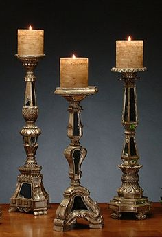 Once the candles are lit, the mirrors instantly reflect and increase the elegance of the flickering flames.