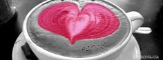 pink heart love coffee cup pattern cool free Facebook profile timeline banner.  cool pink hear love facebook coffee patterns profile cover