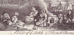 A view of the Scotch & French champ [camp] in Scotland, 1746. Engraved in Edinburgh in 1750. Battle of Culloden.