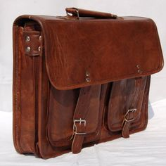 Mens Leather Messenger Bags Shoulder Handbag Soft Leather Satchel P...... | GenuineProducts - Bags & Purses on ArtFire
