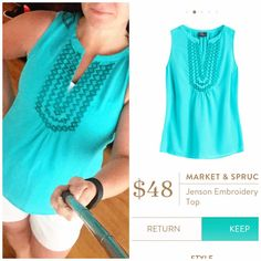 Love the color!! I got this top in coral in my last fix and would love to have this color as well!!
