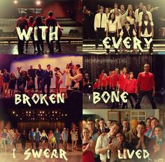 This is the last song Glee sang and I will forever miss this show❤️- I was balling so hard when it ended Best Tv Shows, Best Shows Ever, Favorite Tv Shows, Movies And Tv Shows, My Favorite Things, Glee Memes, Glee Quotes, Tv Quotes, Acting Quotes