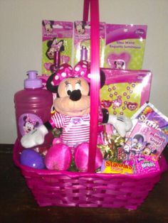 Easter basket ideas for 8 month old girl my blog pinterest minnie mouse easter basket negle Images