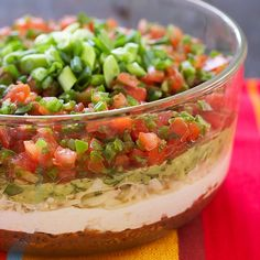 seven layer dip - Superbowl!