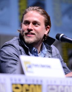 Pin for Later: 22 of the Sexiest Charlie Hunnam Pictures Ever When He Took the Stage at Comic-Con