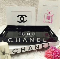 Chanel vanity trays