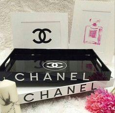 Chanel vanity trays