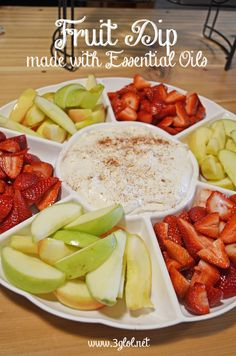 Fruit Dip made with Essential Oils by 3glol.net