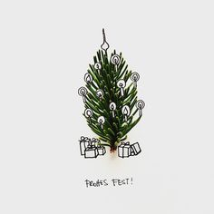 Have yourself a merry little christmas #tree Eva Pils Illustration