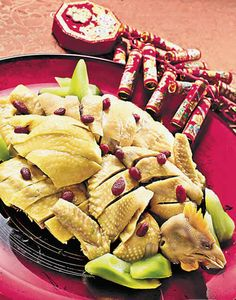 a chinese new year dish new year Http://patricialee. Chinese New Year Dishes, Chinese New Year Traditions, Chinese Food, Drunken Chicken, Food Dishes, Dishes Recipes, Asian Recipes, Ethnic Recipes, Food Challenge