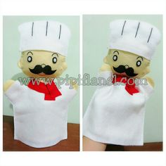 Chef hand puppet made by Pipi Flanel.. Wanna see our feltdolls collection? Please visit our website at www.pipiflanel.com thank you :)
