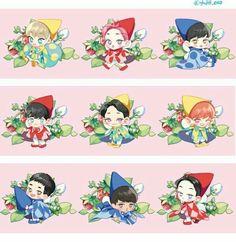 Kpop Exo, Exo Xiumin, Chibi Exo, Exo Cartoon, Cartoon Drawings, Exo Stickers, Exo Anime, Exo Fan Art, Exo Lockscreen