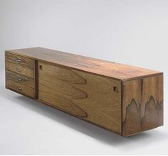 Anonymous; Rosewood Wall-Mounted Cabinet for Archie Shine, c1965.