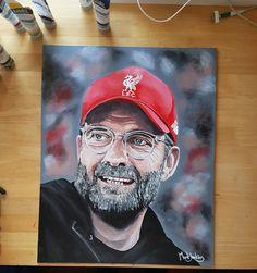 Juergen Klopp, Liverpool Fc, Best Artist, Original Artwork, Soccer, Baseball Cards, The Originals, Futbol, Soccer Ball