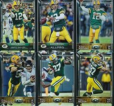Green Bay Packers 2015 Topps NFL Football Complete Regular Issue 25 Card Team Set Including 5 Aaron Rodgers Cards, Clay Matthews, Eddie…