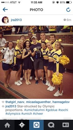 Meryl and Charlie with the University of Michigan cheerleaders  sc 1 st  Pinterest & University of Michigan Cheerleaders | College Cheerleaders ...