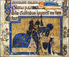 From the Luttrell Psalter, a Medieval manuscript commissioned by Sir Geoffrey Luttrell.